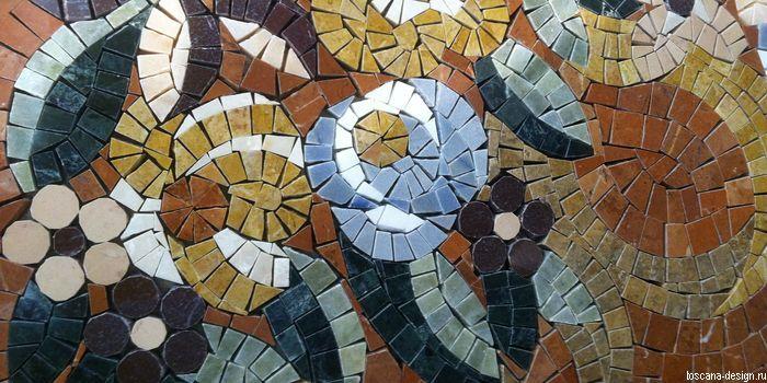 Панно из мозаики натурального камня